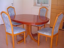 Beautiful Cherry Dining Table and Chairs - local delivery included in Ansbach, Germany