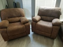 2 recliners with usb port in The Woodlands, Texas