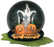 HALLOWEEN INFLATABLE GLOBE FOR YARD in Joliet, Illinois