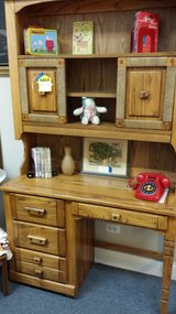 Oak desk with hutch in St. Charles, Illinois