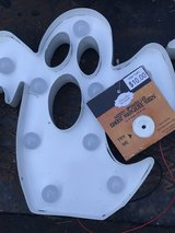 Halloween Metal Light Up LED Marquee Signs Ghost On/Off in Cleveland, Texas