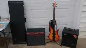Bass Guitar, Stand. and 2 amps in Warner Robins, Georgia