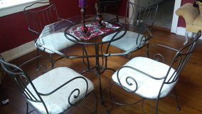 Wrought iron and glass dining set in Savannah, Georgia