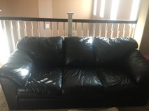 Black leather sofa n love seat in Temecula, California