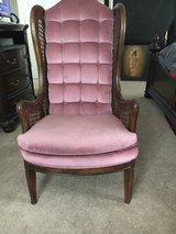 Vintage Tall Wingback Cane Chair in Fort Meade, Maryland