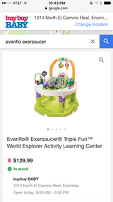 Evenflo® Exersaucer® Triple Fun World Explorer Activity Learning Center in Camp Pendleton, California