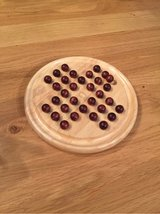 very decorative Solitaire game made from wood in Ramstein, Germany