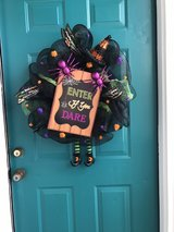 Halloween wreath in Wilmington, North Carolina