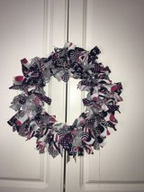fabric anchor wreath in Wilmington, North Carolina