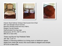 Chair and Round table in Joliet, Illinois