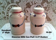 Shawnee Milk can Pail Salt & Pepper Shakers in DeKalb, Illinois
