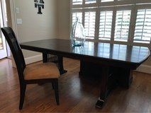 dining table, glass top and 6 chairs in Cary, North Carolina