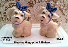 New Price!! Shawnee Muggsy Salt & Pepper Shakers in DeKalb, Illinois