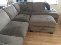 Suede Fabric Sectional in Fort Bragg, North Carolina