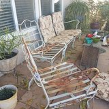 Vintage patio set in Los Angeles, California