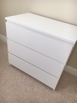 Malm IKEA 3-drawer chest, white in Conroe, Texas