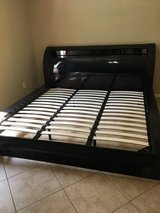 Platform Bed Frame King size with storage in headboard in Kingwood, Texas