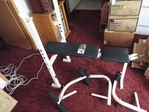 Weight Bench by Body Flex with attachments in Cherry Point, North Carolina