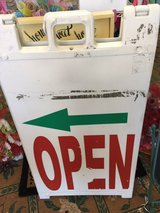 double sided open sign in Fort Bragg, North Carolina