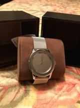 Michael kors silver mirror watch. 250$.. brand new. never worn. with gift hox in Macon, Georgia