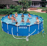 Intex 15X48 Metal frame swimming pool in Clarksville, Tennessee