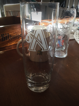 Beer clear drinking glass, from Holland in Colorado Springs, Colorado