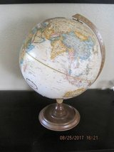 World Globe With Wood Stand in Fairfield, California
