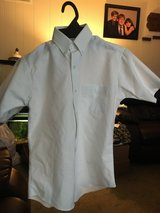 Boys short sleeve white button down shirt size 14 in Naperville, Illinois