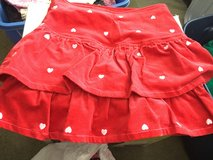 New with tags Size 8 soft cord skirt red with hearts in Naperville, Illinois