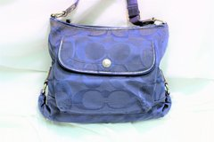 Coach Kyra Purse Shoulder F16550 Blue Signature Handle Satchel Tote Shopper in Kingwood, Texas