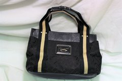 Tommy Hilifiger Brown Black Tan Beige Purse Hand Bag Top Handle Tote Shopper in Kingwood, Texas
