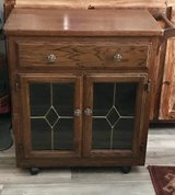 Very Nice Real Wood Stained Glass Kitchen Caddy in 29 Palms, California