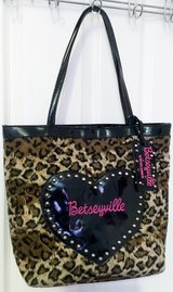 REAL BETSEYVILLE LEOPARD TOTE, PURSE, BAG in Lakenheath, UK