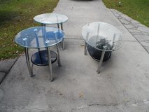 GLASS and CHROME Coffee and 2 end tables (set) in Cherry Point, North Carolina