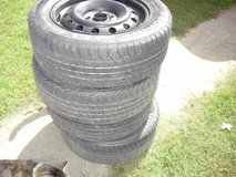 4 P195/60/R15 tires and rims. in Clarksville, Tennessee