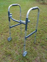 Invacare Dual Blue-Release Foldable Adult Walker - Adjustable in Fort Polk, Louisiana