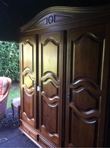 antique solid wood armoire Schrank wadrobe from France in Ramstein, Germany