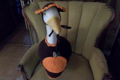 Pumpkin Halloween Thanksgiving Geese Outfit Crochet Fall Decor in Belleville, Illinois
