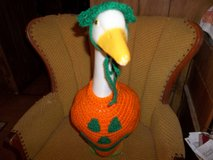 Pumpkin Face Halloween Greese Dress Crochet Outdoor Decor in Belleville, Illinois