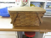 Old time picnic basket in Alamogordo, New Mexico