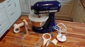 Kitchenaid Ultra Power Mixer with grinder and other attachments in Stuttgart, GE