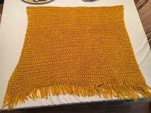 "Vintage Gold Yellow Fall Large Crocheted Afghan Blanket 72"" x 46"" + Tassels in Quantico, Virginia"