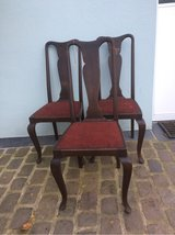 3 solid wood antique chairs in Ramstein, Germany
