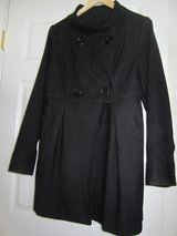 Ladies black double breasted coat in Sandwich, Illinois