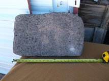 vintage native grinding metate in Alamogordo, New Mexico