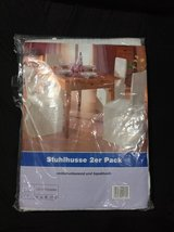 2 White Chair + 1 Table Cover Set + w/ 2 pillows in Fort Campbell, Kentucky