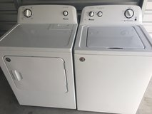 Amana washer dryer pair in Cherry Point, North Carolina