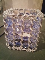 BLUE BEADED CANDLE HOLDER in Plainfield, Illinois