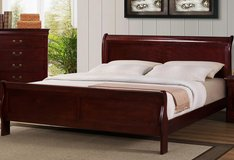 King Size Cherry Bed - New - Still in the box in Cary, North Carolina