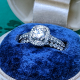 Diamond Engagement Ring Platinum.  .56ct.Center stone GIA cert. SI1 H in Camp Pendleton, California